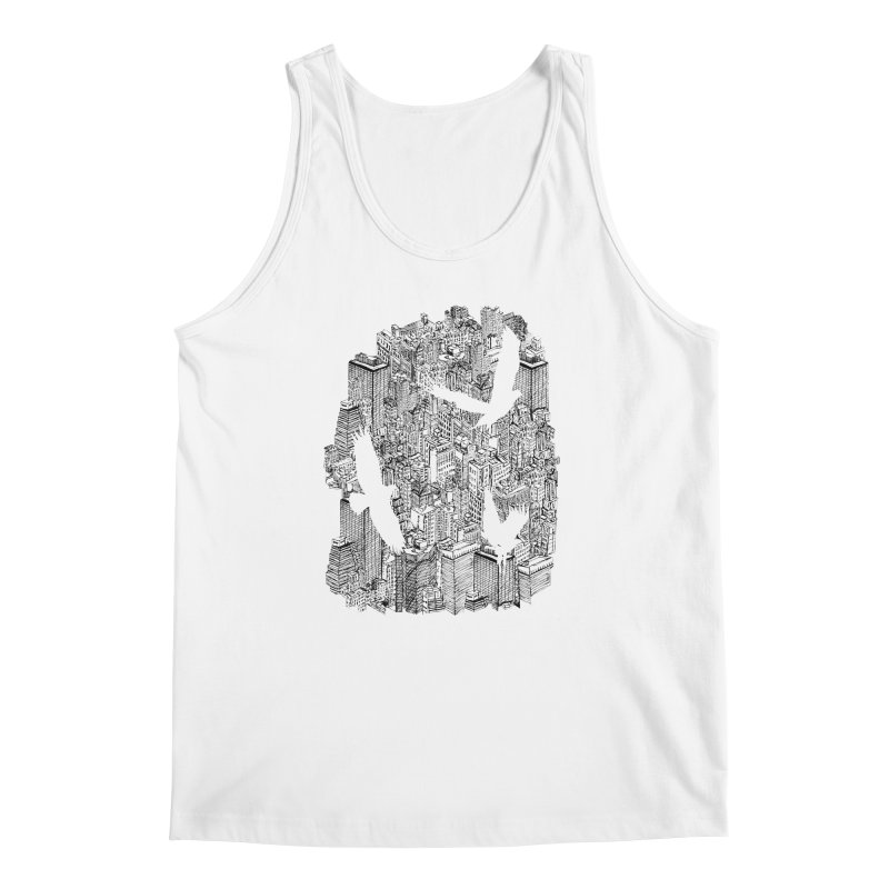Ecotone Men's Tank by David Bushell Illustration-Design Shop