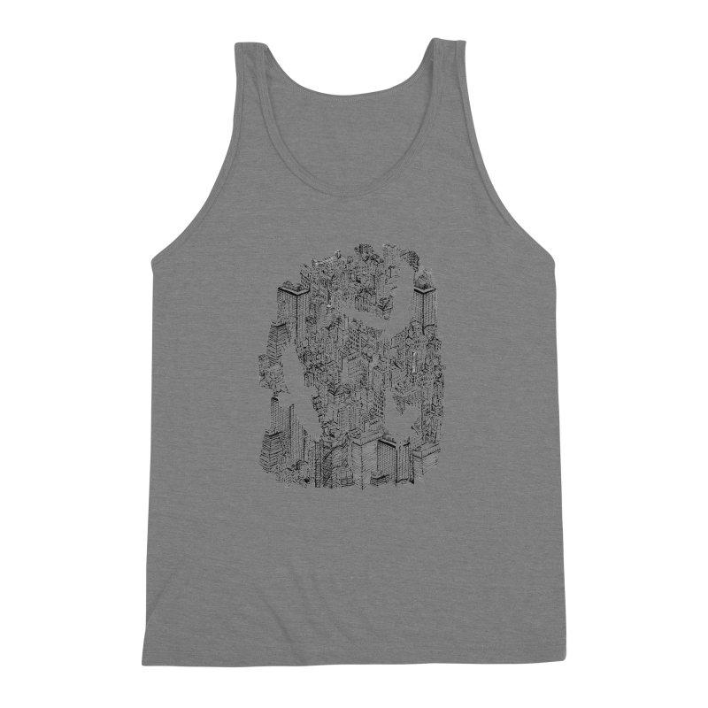 Ecotone Men's Triblend Tank by David Bushell Illustration-Design Shop