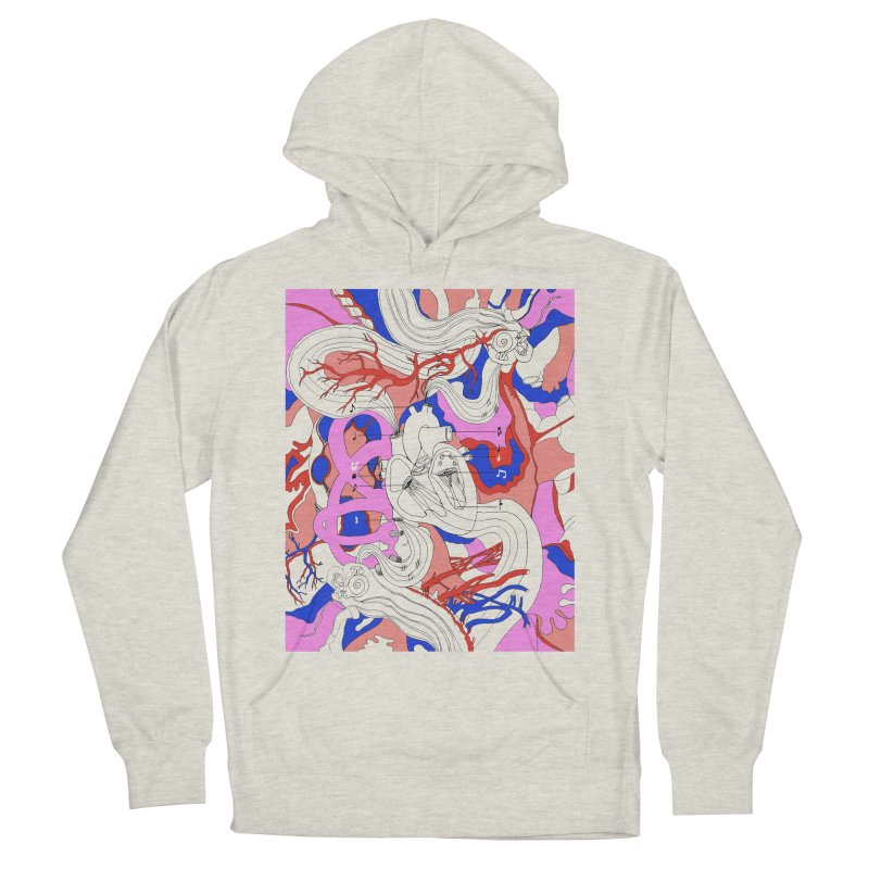 Heart Men's Pullover Hoody by David Bushell Illustration-Design Shop