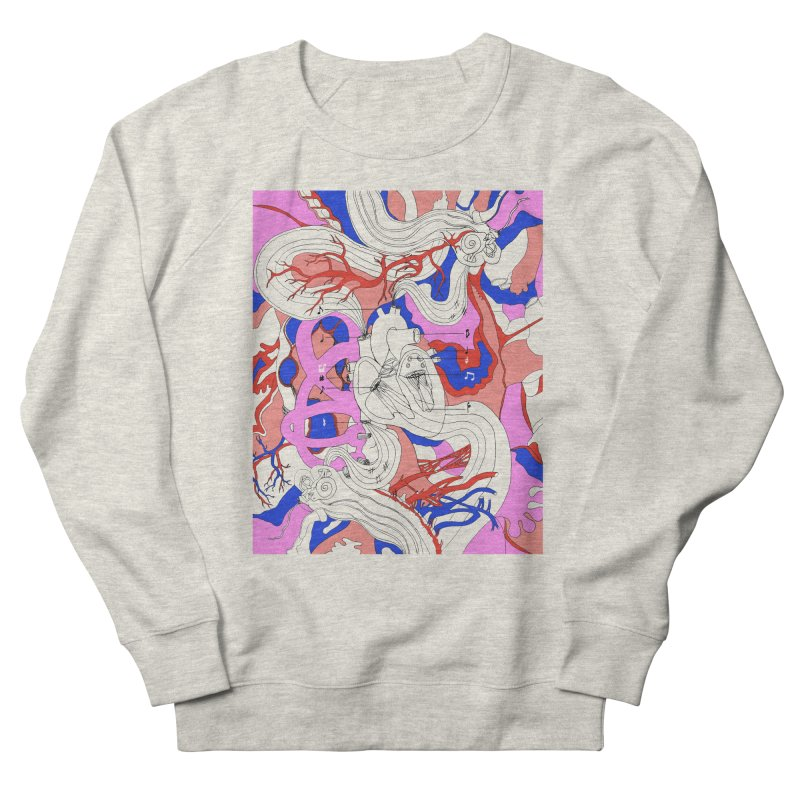 Heart Men's Sweatshirt by David Bushell Illustration-Design Shop