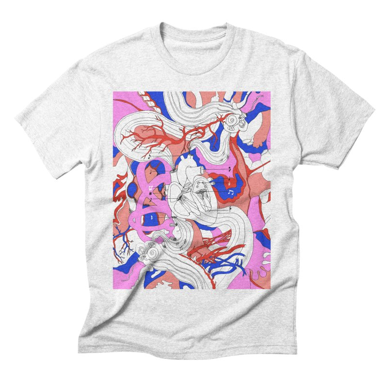 Heart Men's Triblend T-shirt by David Bushell Illustration-Design Shop