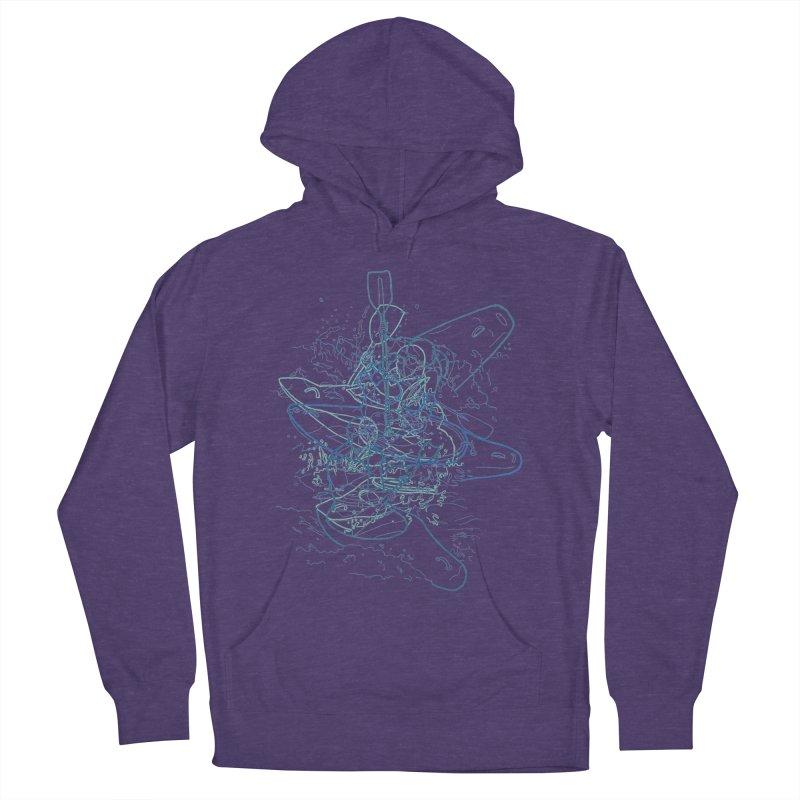 Qayaq Men's Pullover Hoody by David Bushell Illustration-Design Shop