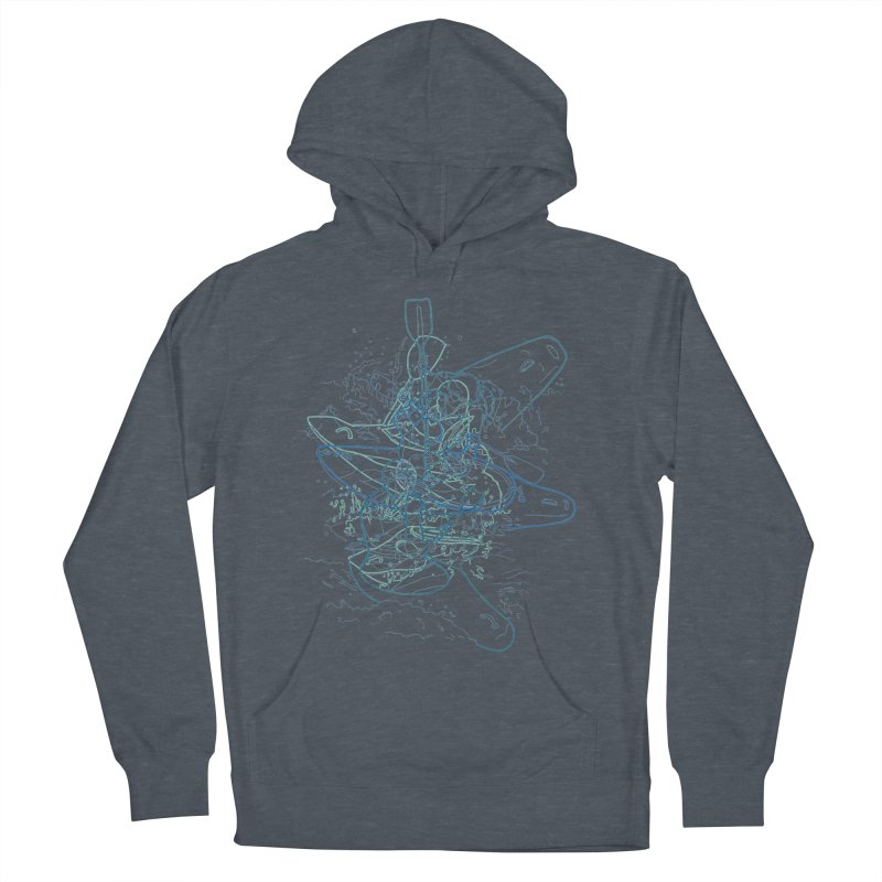 Qayaq Men's Pullover Hoody by David Bushell Illustration-Design Shop