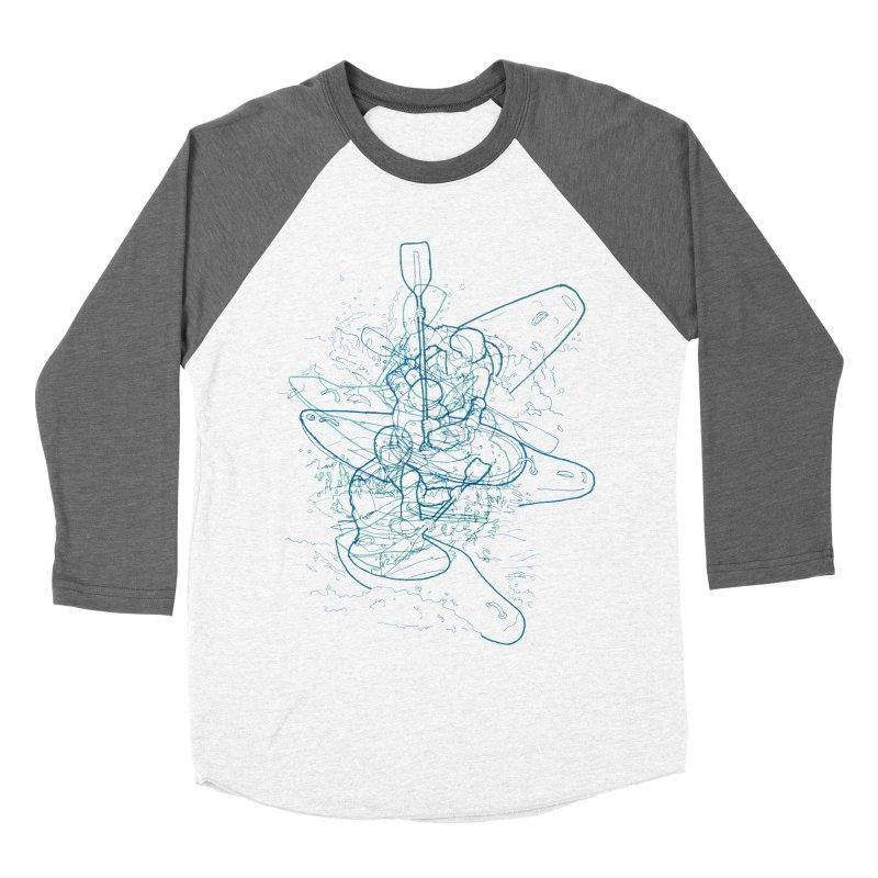 Qayaq Men's Baseball Triblend T-Shirt by David Bushell Illustration-Design Shop