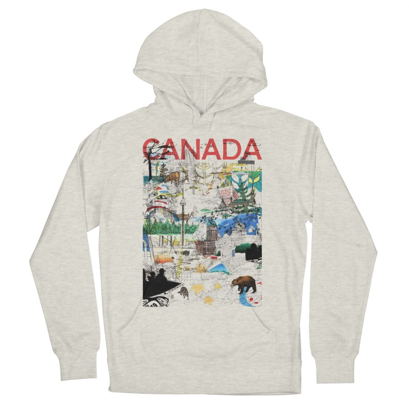 Canada Men's Pullover Hoody by David Bushell Illustration-Design Shop