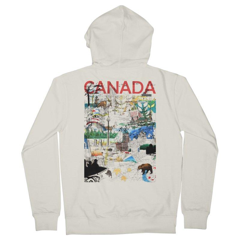 Canada Men's Zip-Up Hoody by David Bushell Illustration-Design Shop