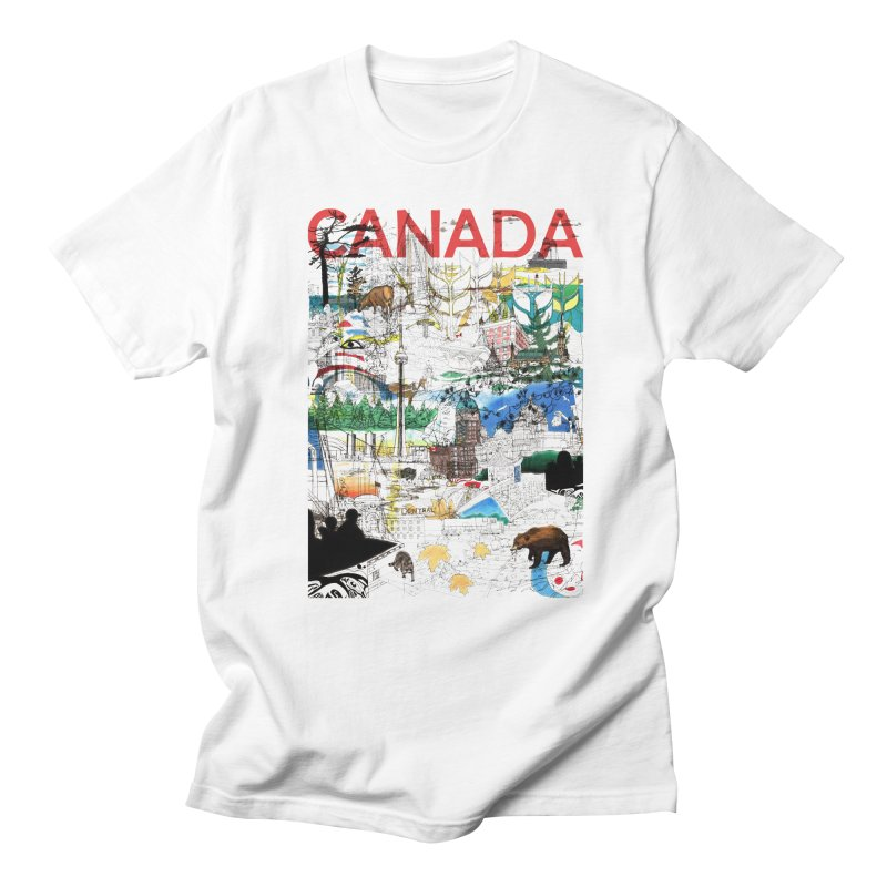 Canada Men's T-shirt by David Bushell Illustration-Design Shop