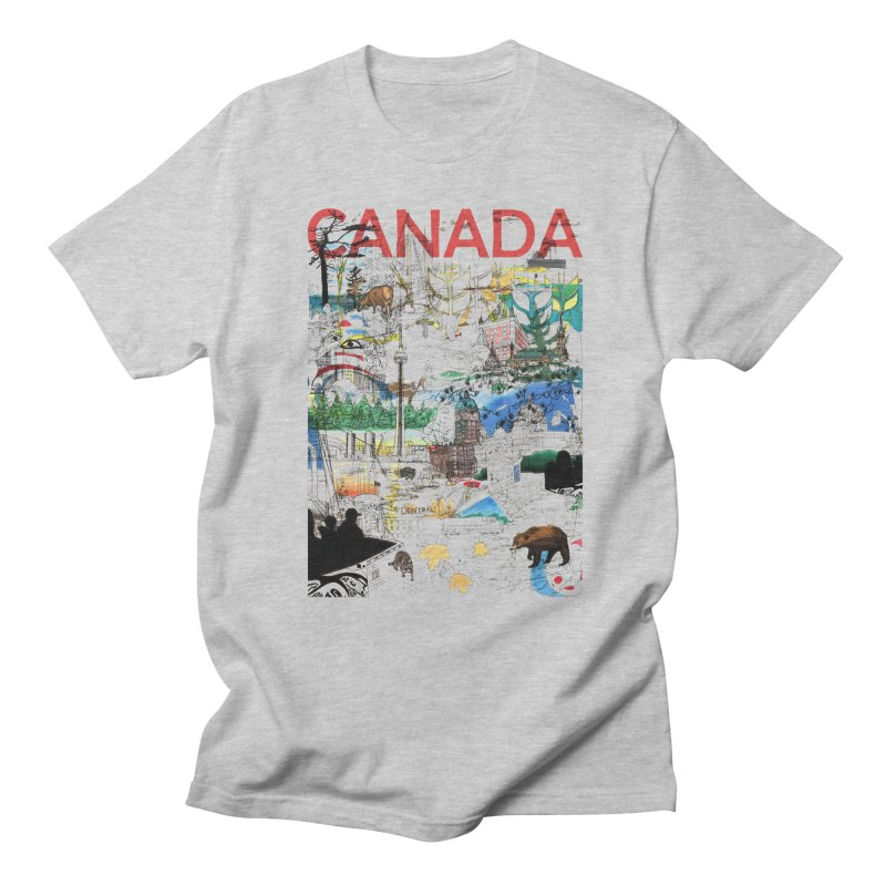 Canada Men's T-shirt by David Bushell Illustration-Design Shop