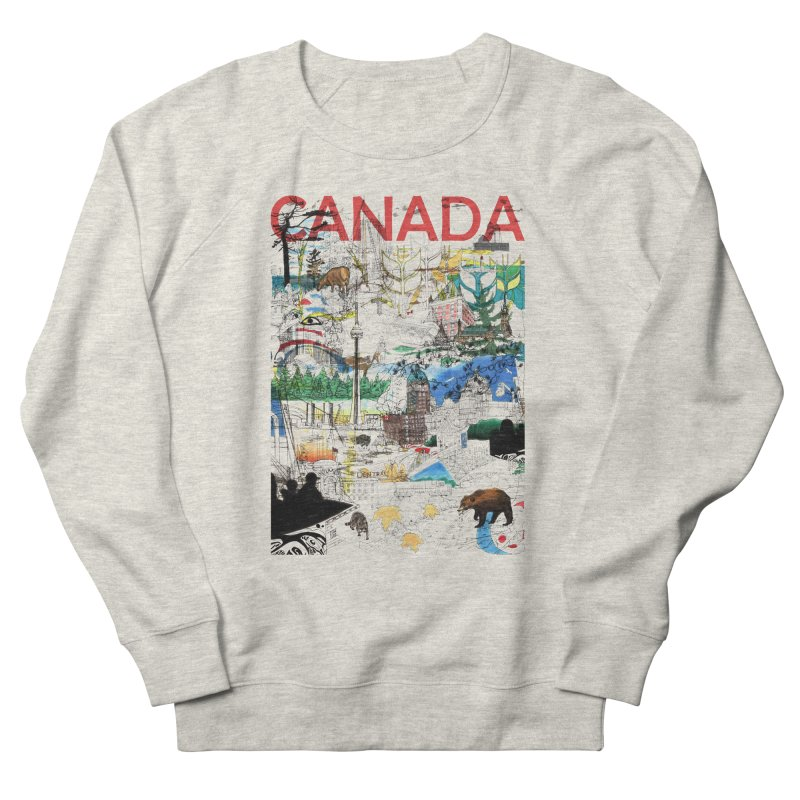 Canada Men's Sweatshirt by David Bushell Illustration-Design Shop