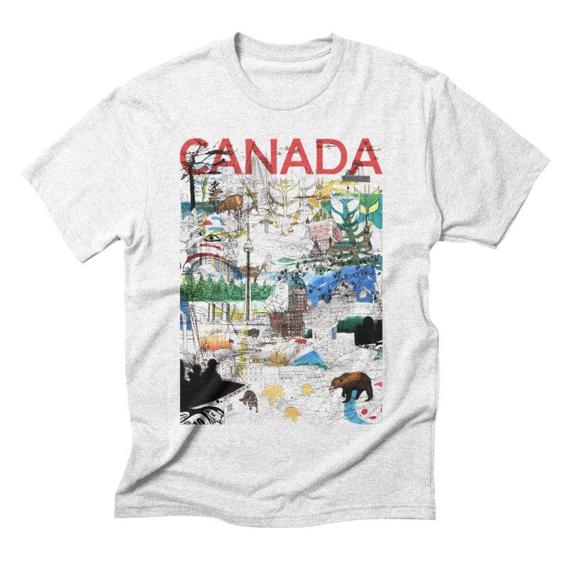 Canada Men's Triblend T-shirt by David Bushell Illustration-Design Shop
