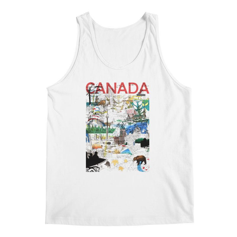 Canada Men's Tank by David Bushell Illustration-Design Shop