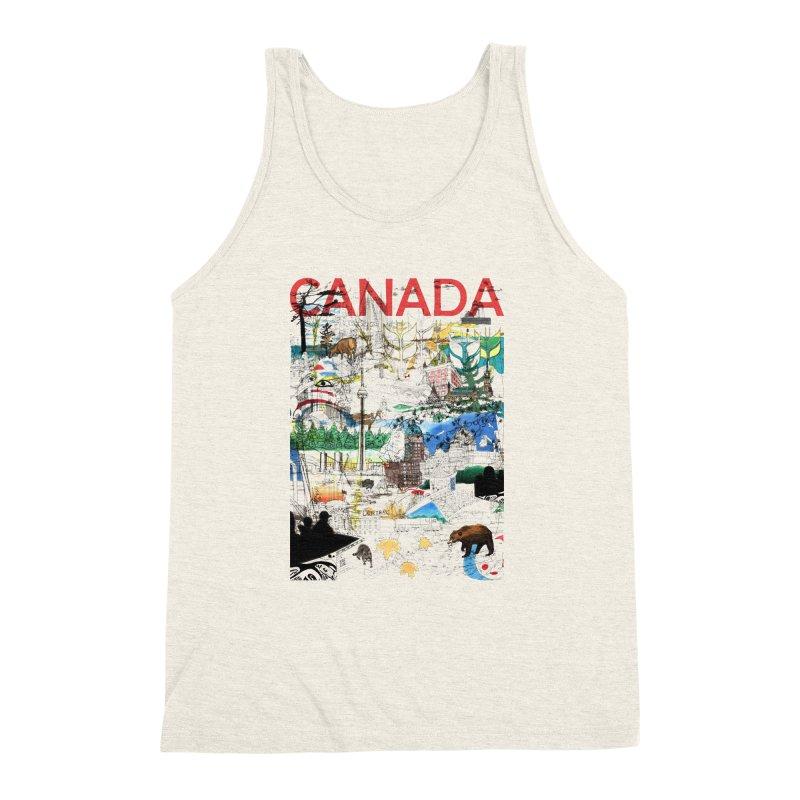 Canada Men's Triblend Tank by David Bushell Illustration-Design Shop