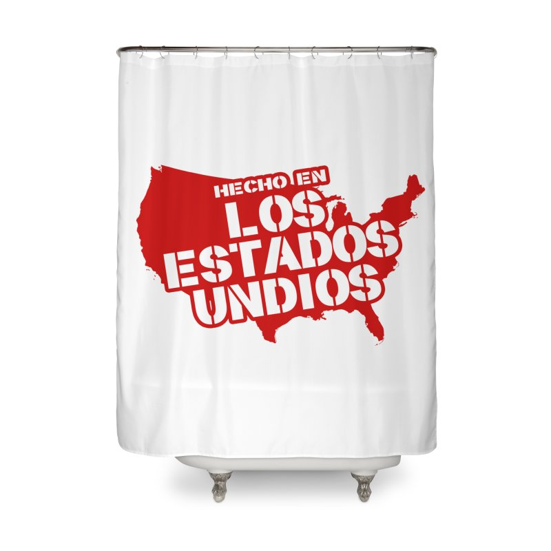 Made In Los Estados Unidos Home Shower Curtain by The David Feldman Show Official Merch Store