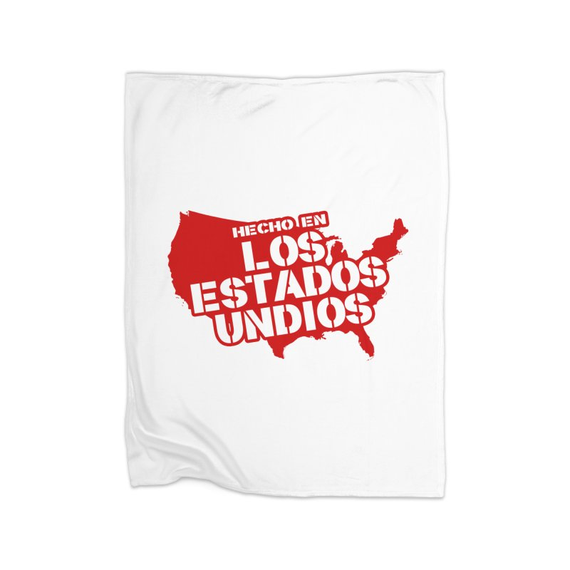Made In Los Estados Unidos Home Fleece Blanket Blanket by The David Feldman Show Official Merch Store