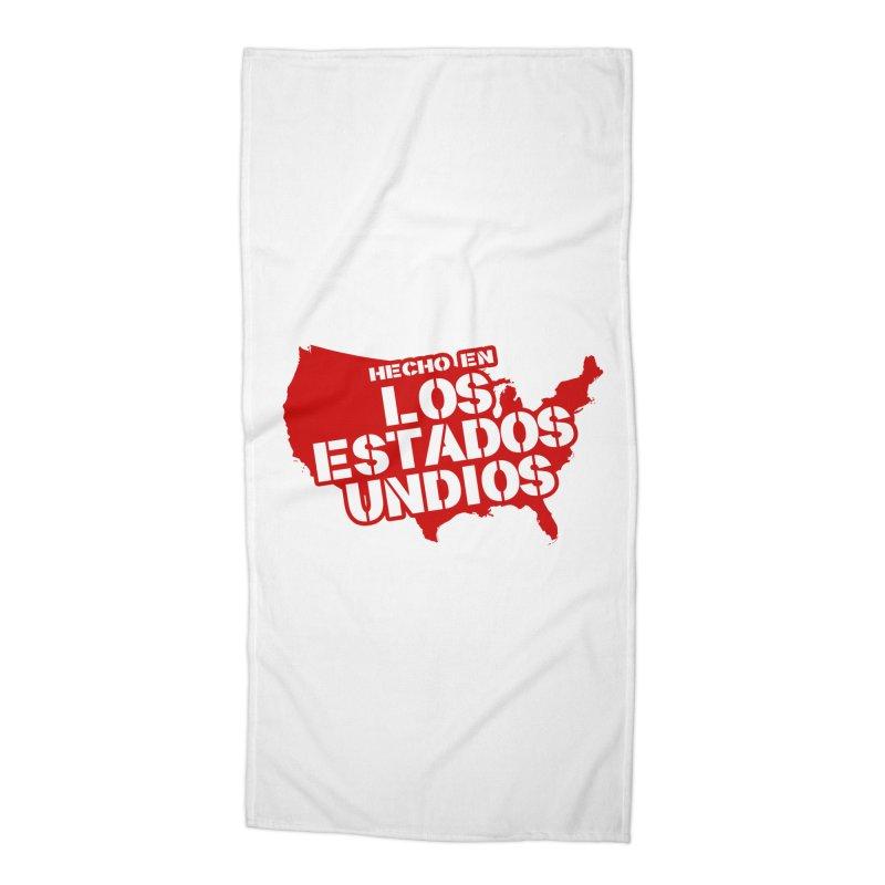 Made In Los Estados Unidos Accessories Beach Towel by The David Feldman Show Official Merch Store