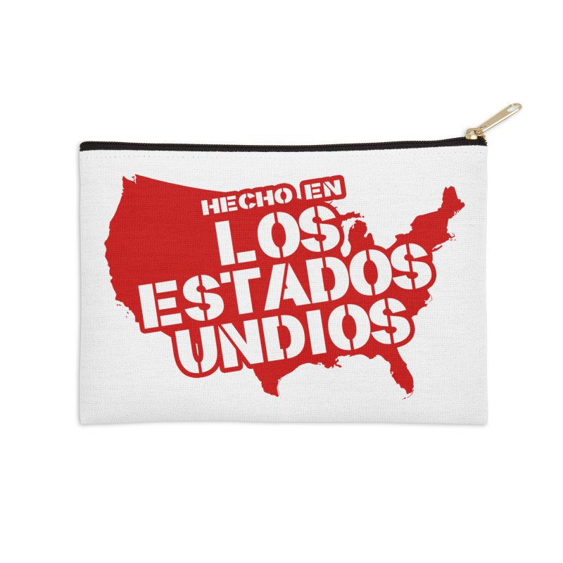Made In Los Estados Unidos Accessories Zip Pouch by The David Feldman Show Official Merch Store
