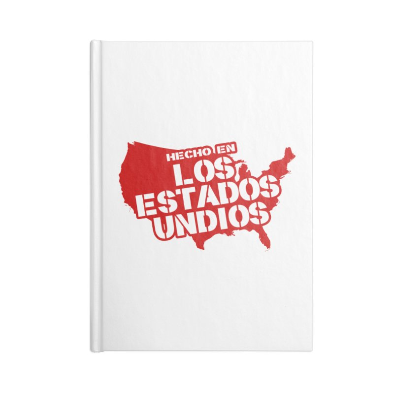 Made In Los Estados Unidos Accessories Blank Journal Notebook by The David Feldman Show Official Merch Store