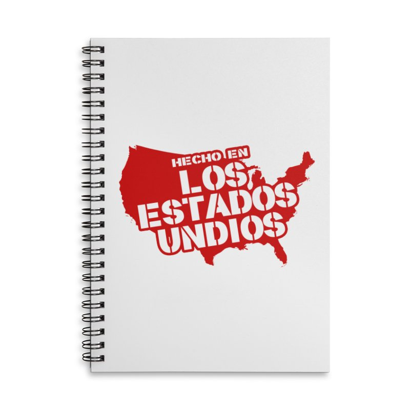 Made In Los Estados Unidos Accessories Lined Spiral Notebook by The David Feldman Show Official Merch Store