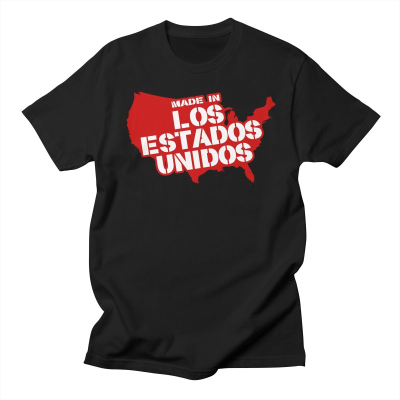 Made In Los Estados Unidos in Men's Regular T-Shirt Black by The David Feldman Show Official Merch Store