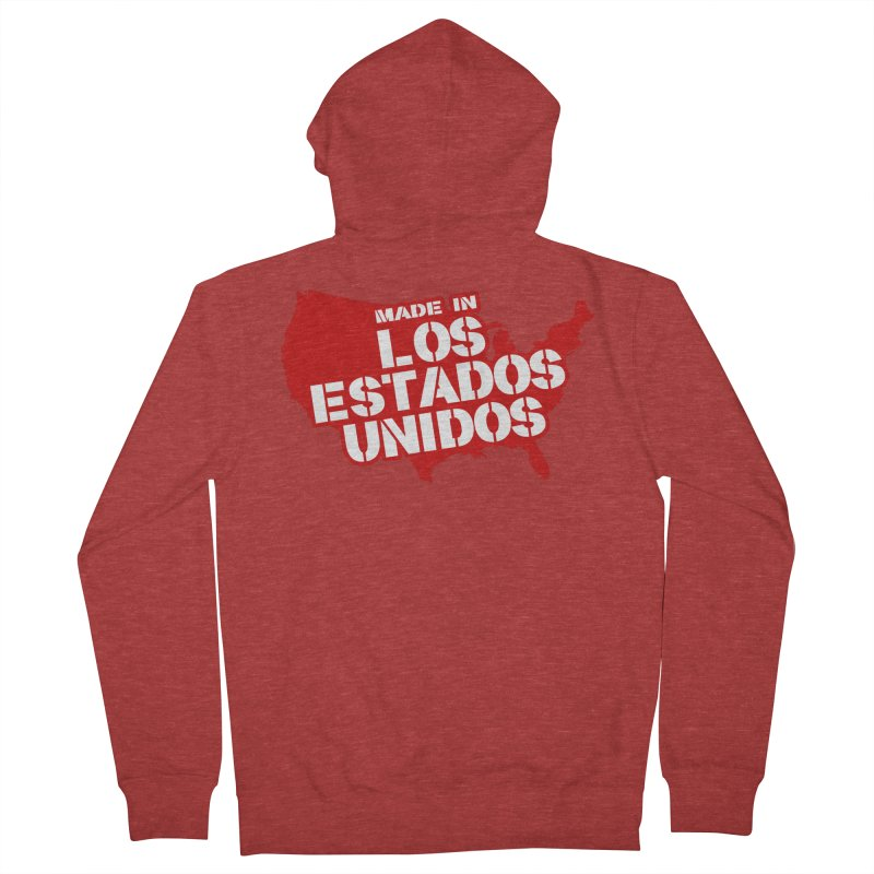 Made In Los Estados Unidos Women's French Terry Zip-Up Hoody by The David Feldman Show Official Merch Store