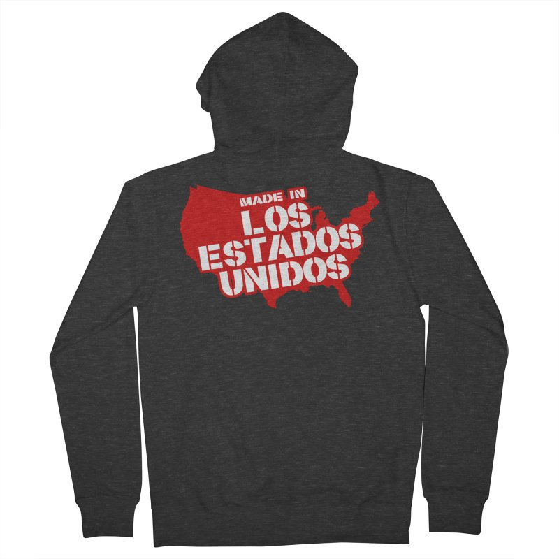 Made In Los Estados Unidos Men's French Terry Zip-Up Hoody by The David Feldman Show Official Merch Store