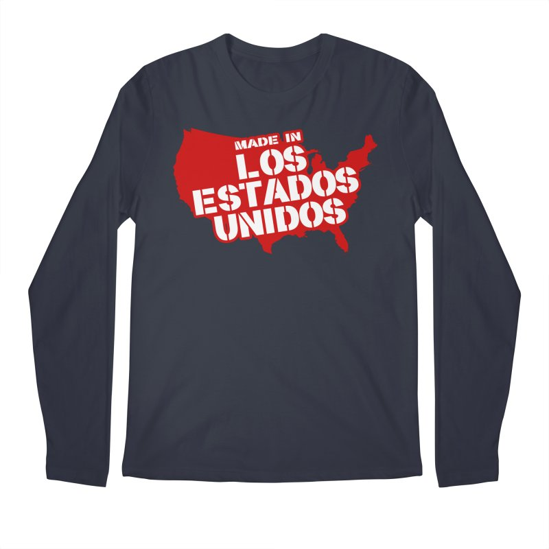 Made In Los Estados Unidos Men's Regular Longsleeve T-Shirt by The David Feldman Show Official Merch Store