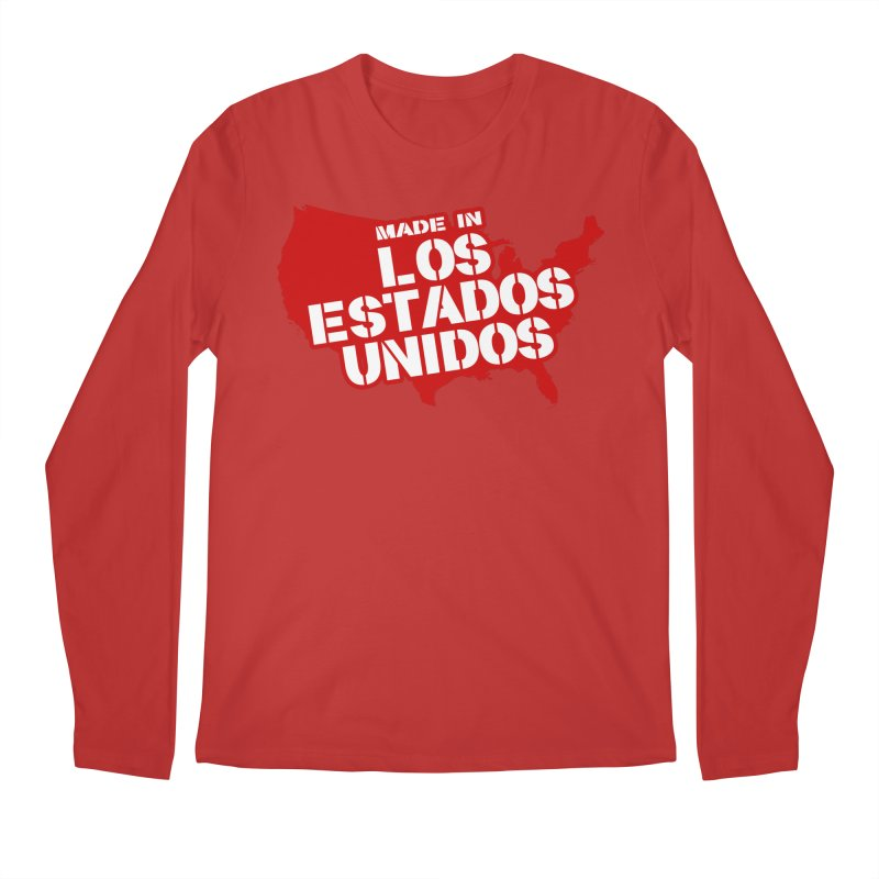 Made In Los Estados Unidos Men's Longsleeve T-Shirt by The David Feldman Show Official Merch Store