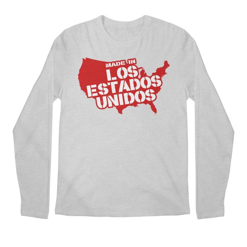 Made In Los Estados Unidos Men's Regular Longsleeve T-Shirt by The David Feldman Show Official Merch Store