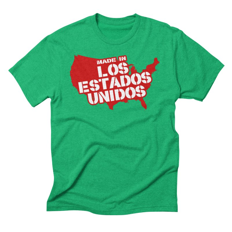 Made In Los Estados Unidos Men's Triblend T-Shirt by The David Feldman Show Official Merch Store