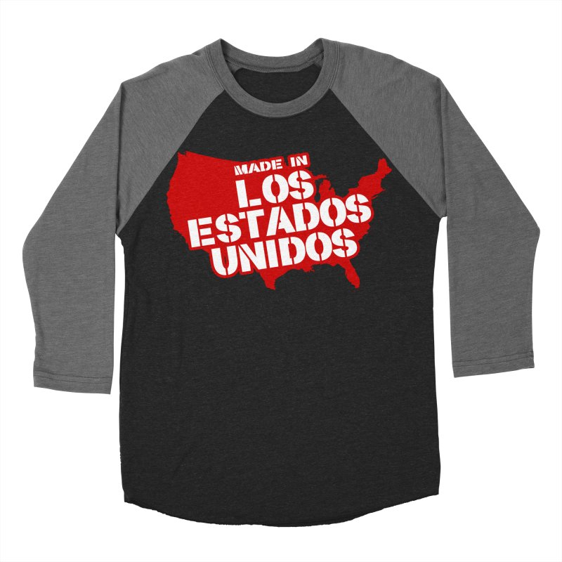 Made In Los Estados Unidos Women's Baseball Triblend Longsleeve T-Shirt by The David Feldman Show Official Merch Store