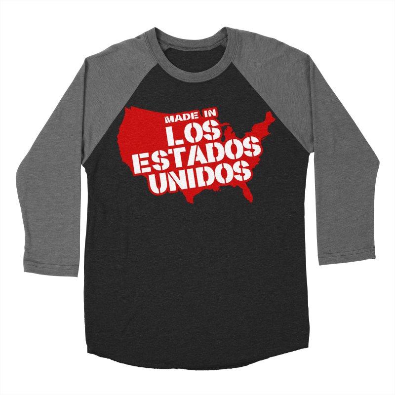 Made In Los Estados Unidos Men's Baseball Triblend T-Shirt by The David Feldman Show Official Merch Store