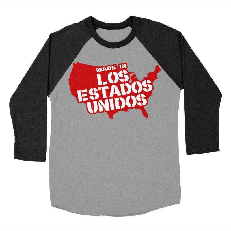 Made In Los Estados Unidos Men's Baseball Triblend Longsleeve T-Shirt by The David Feldman Show Official Merch Store