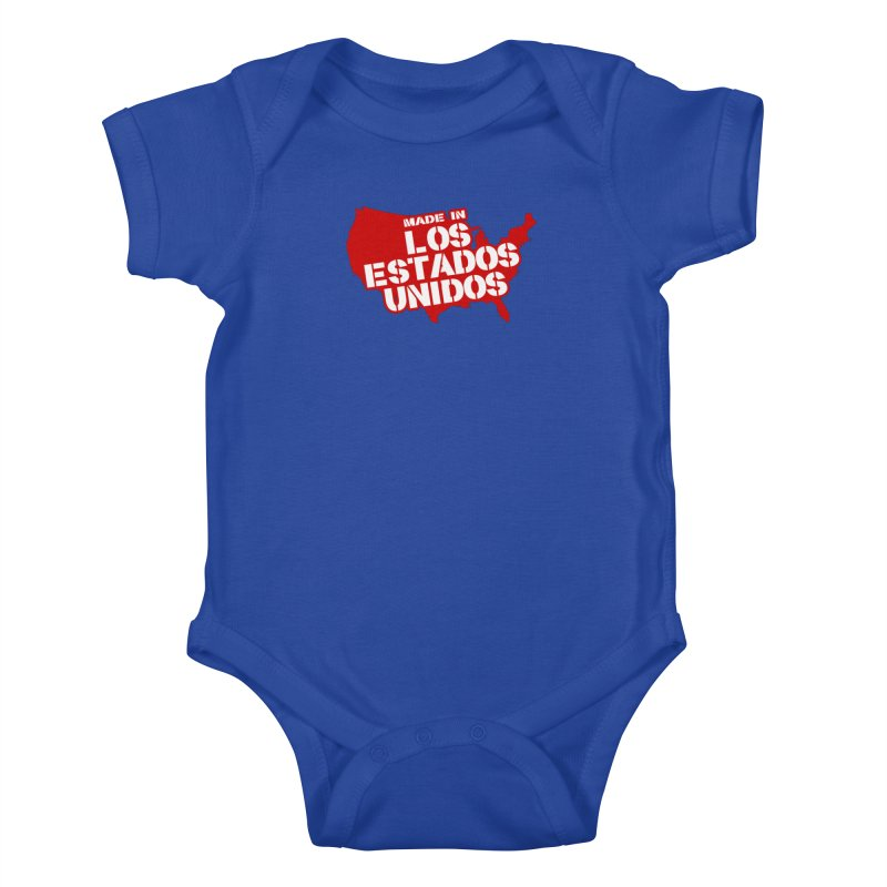 Made In Los Estados Unidos Kids Baby Bodysuit by The David Feldman Show Official Merch Store