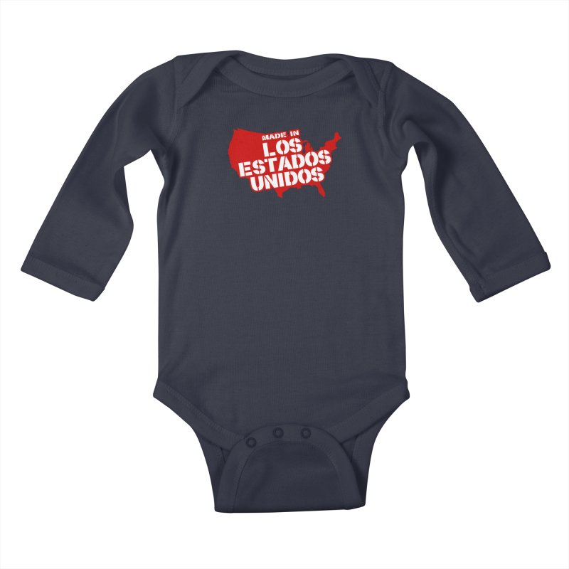 Made In Los Estados Unidos Kids Baby Longsleeve Bodysuit by The David Feldman Show Official Merch Store