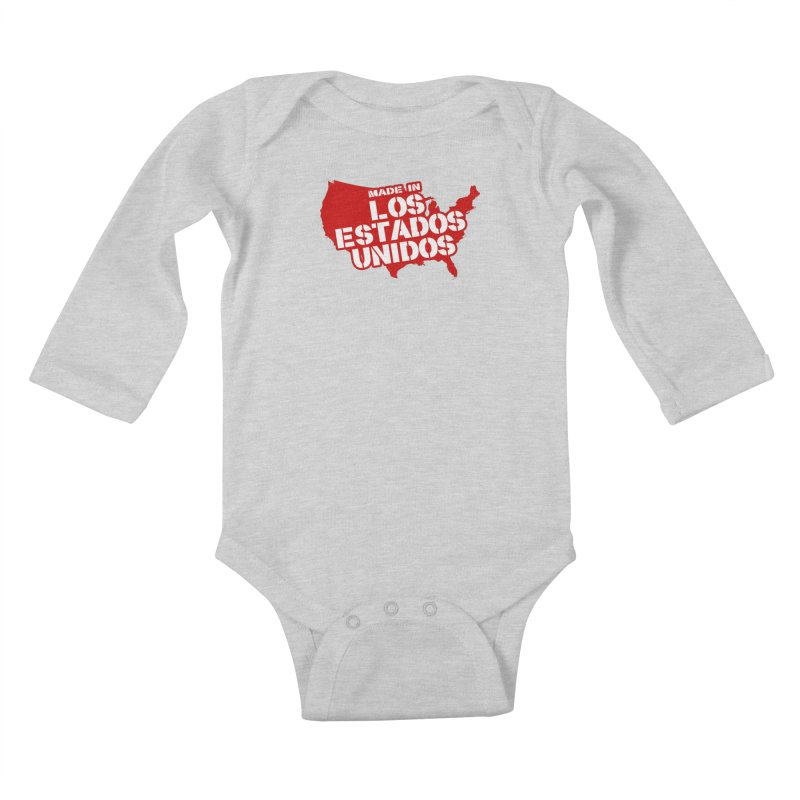 Made In Los Estados Unidos Kids Baby Longsleeve Bodysuit by The David Feldman Show Official Merch Store