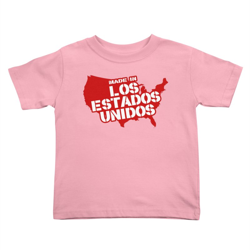 Made In Los Estados Unidos Kids Toddler T-Shirt by The David Feldman Show Official Merch Store