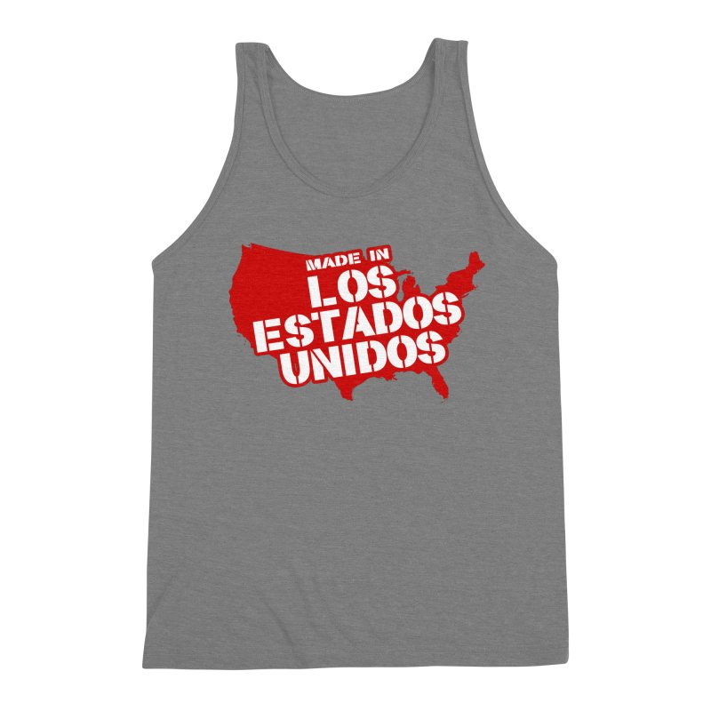 Made In Los Estados Unidos Men's Triblend Tank by The David Feldman Show Official Merch Store
