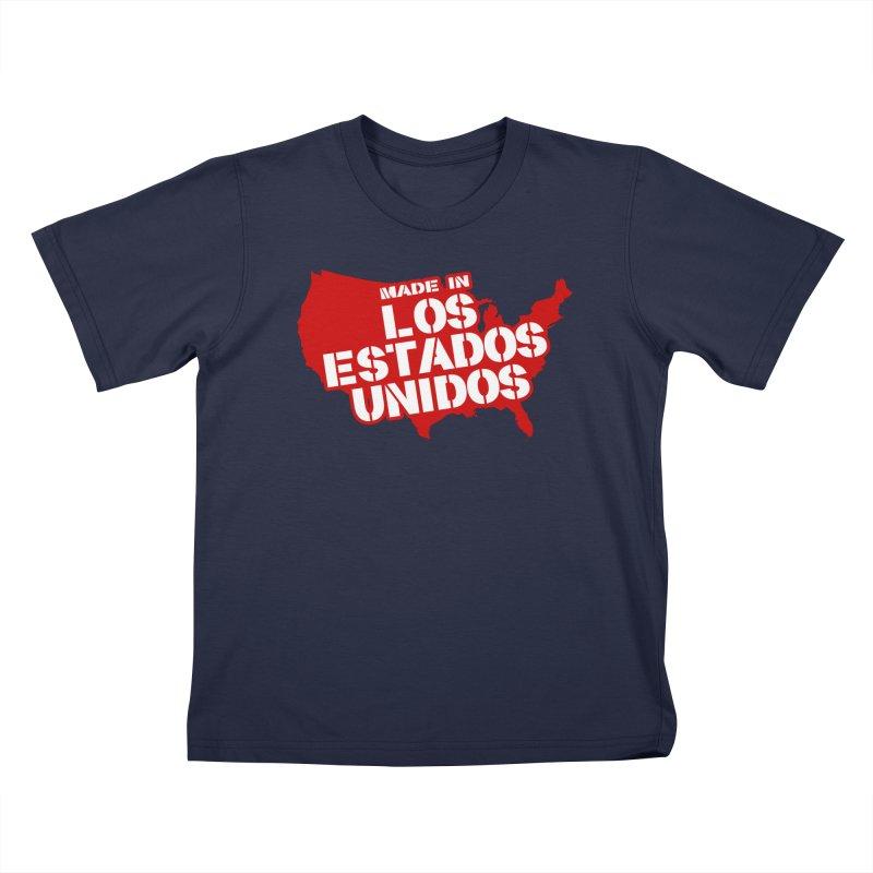 Made In Los Estados Unidos Kids T-Shirt by The David Feldman Show Official Merch Store