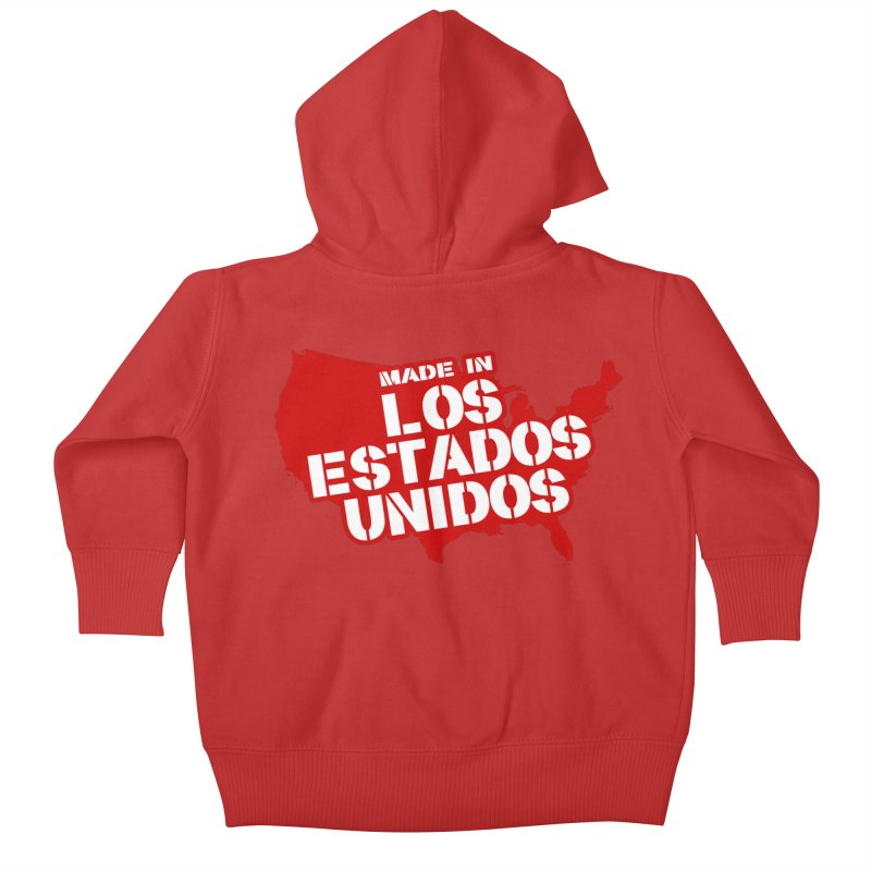 Made In Los Estados Unidos Kids Baby Zip-Up Hoody by The David Feldman Show Official Merch Store