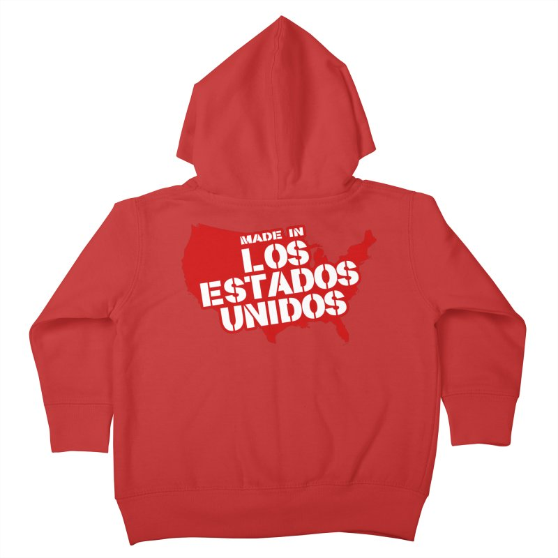 Made In Los Estados Unidos Kids Toddler Zip-Up Hoody by The David Feldman Show Official Merch Store