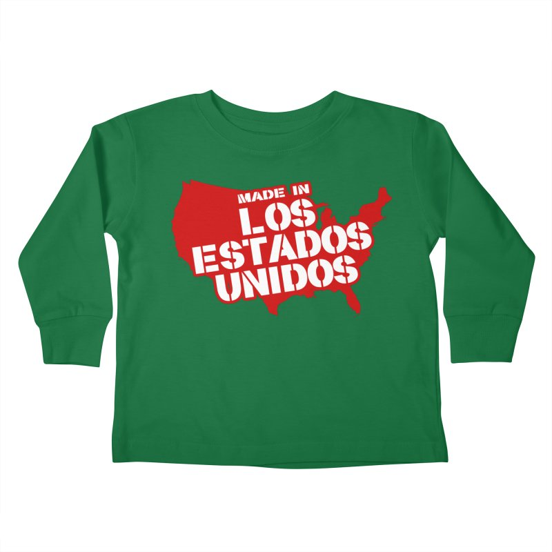 Made In Los Estados Unidos Kids Toddler Longsleeve T-Shirt by The David Feldman Show Official Merch Store
