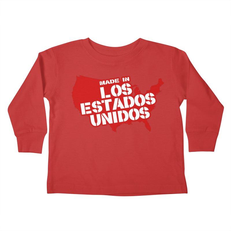 Made In Los Estados Unidos Kids Toddler Longsleeve T-Shirt by The David Feldman Show Official Merch Store