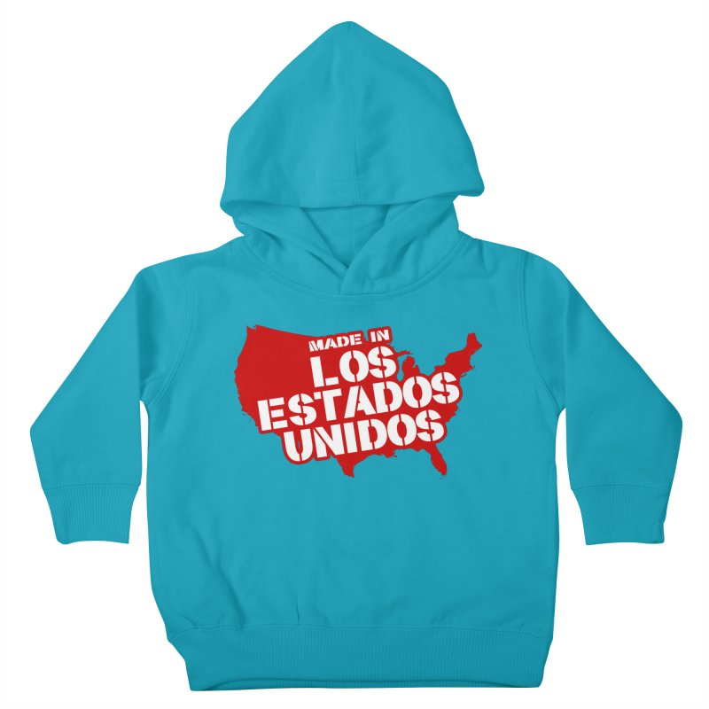 Made In Los Estados Unidos Kids Toddler Pullover Hoody by The David Feldman Show Official Merch Store