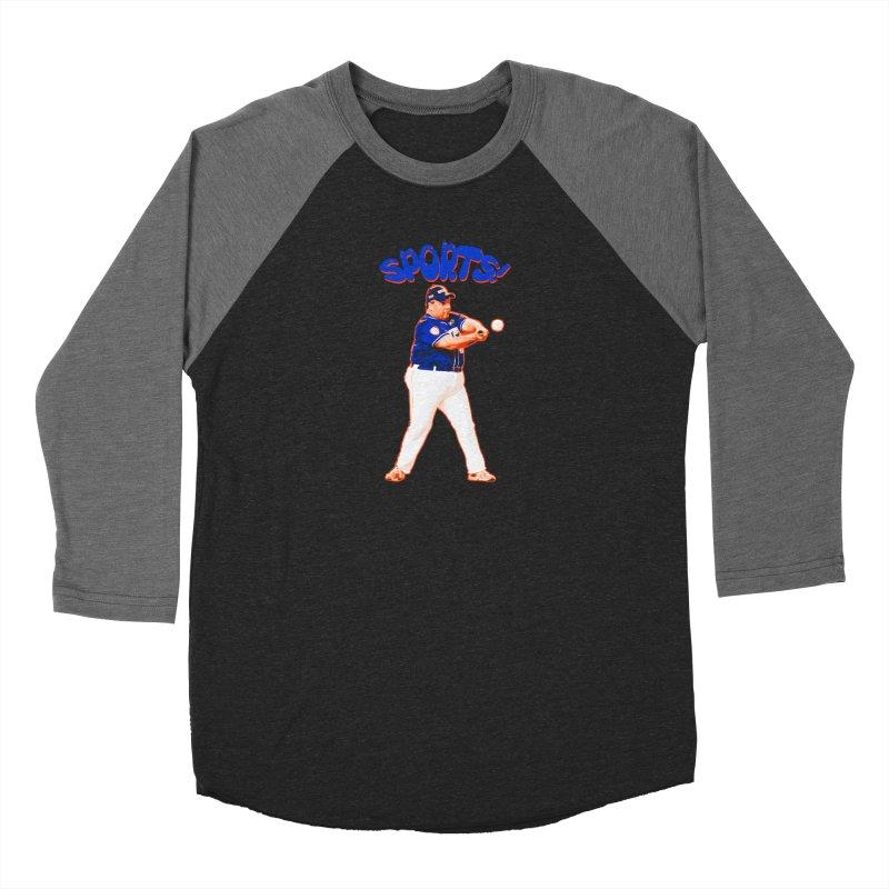 Chris Christie 'Sports' Edition Men's Baseball Triblend Longsleeve T-Shirt by The David Feldman Show Official Merch Store
