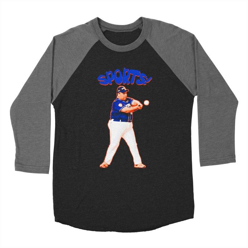Chris Christie 'Sports' Edition Women's Baseball Triblend Longsleeve T-Shirt by The David Feldman Show Official Merch Store