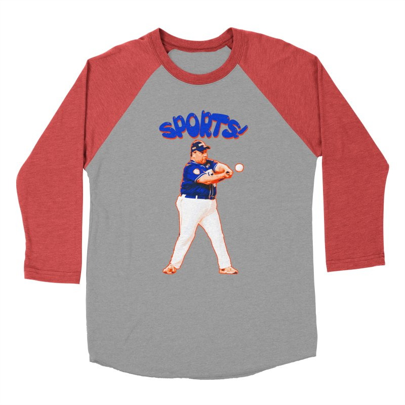 Chris Christie 'Sports' Edition Men's Baseball Triblend T-Shirt by The David Feldman Show Official Merch Store