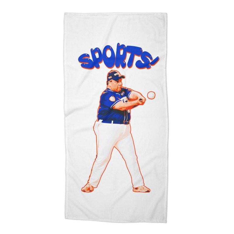 Chris Christie 'Sports' Edition Accessories Beach Towel by The David Feldman Show Official Merch Store