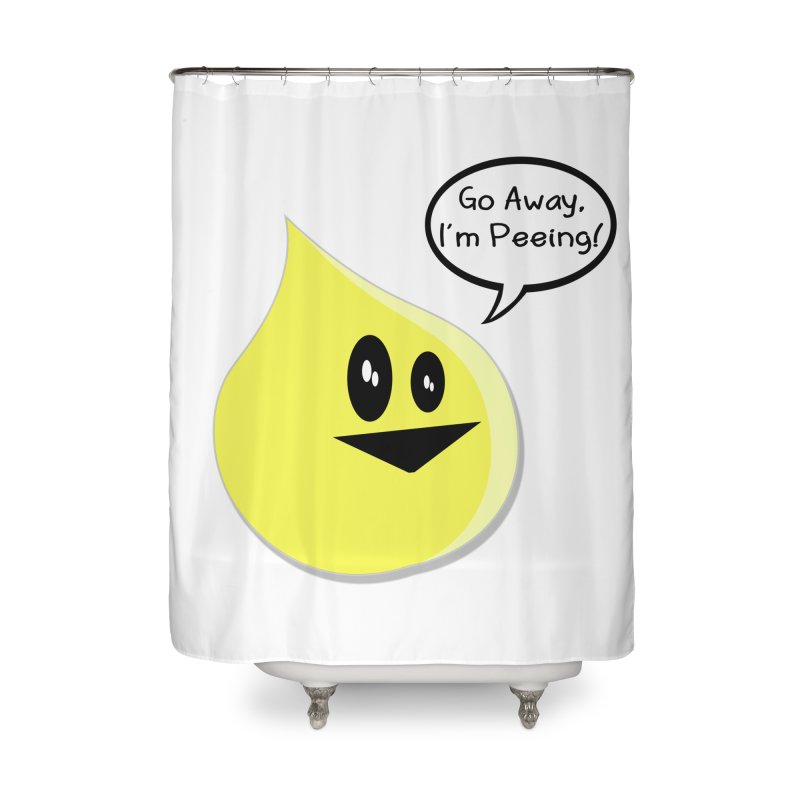 Go Away, I'm Peeing! Home Shower Curtain by The David Feldman Show Official Merch Store