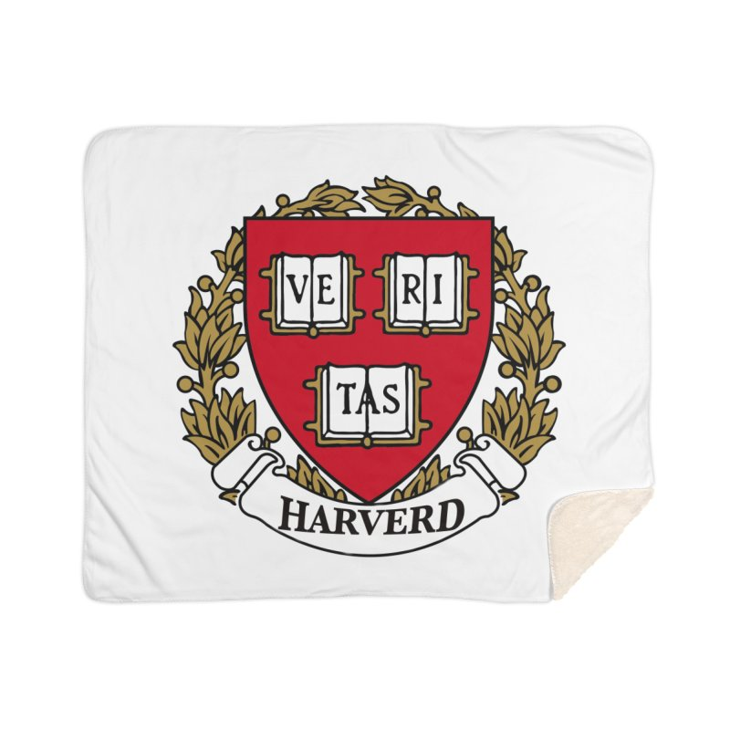 Harverd Home Sherpa Blanket Blanket by The David Feldman Show Official Merch Store