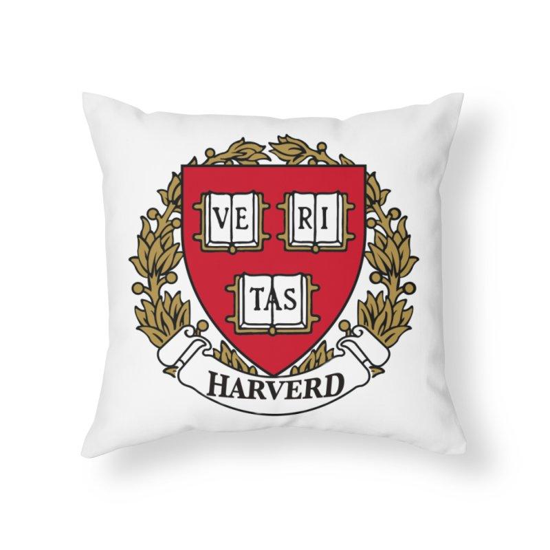 Harverd Home Throw Pillow by The David Feldman Show Official Merch Store